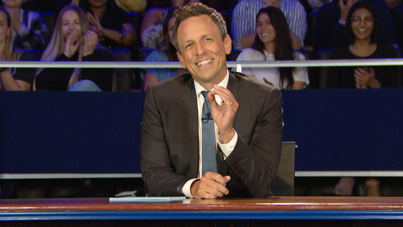 Democratic Candidates Ding Donald Trump, Get Freaky In Seth Meyers' Spoof Debate
