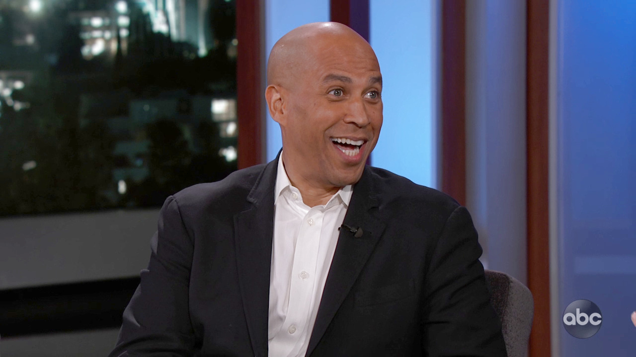 Jimmy Kimmel Suggests New Slogans For Cory Booker, Some Go Better Than Others