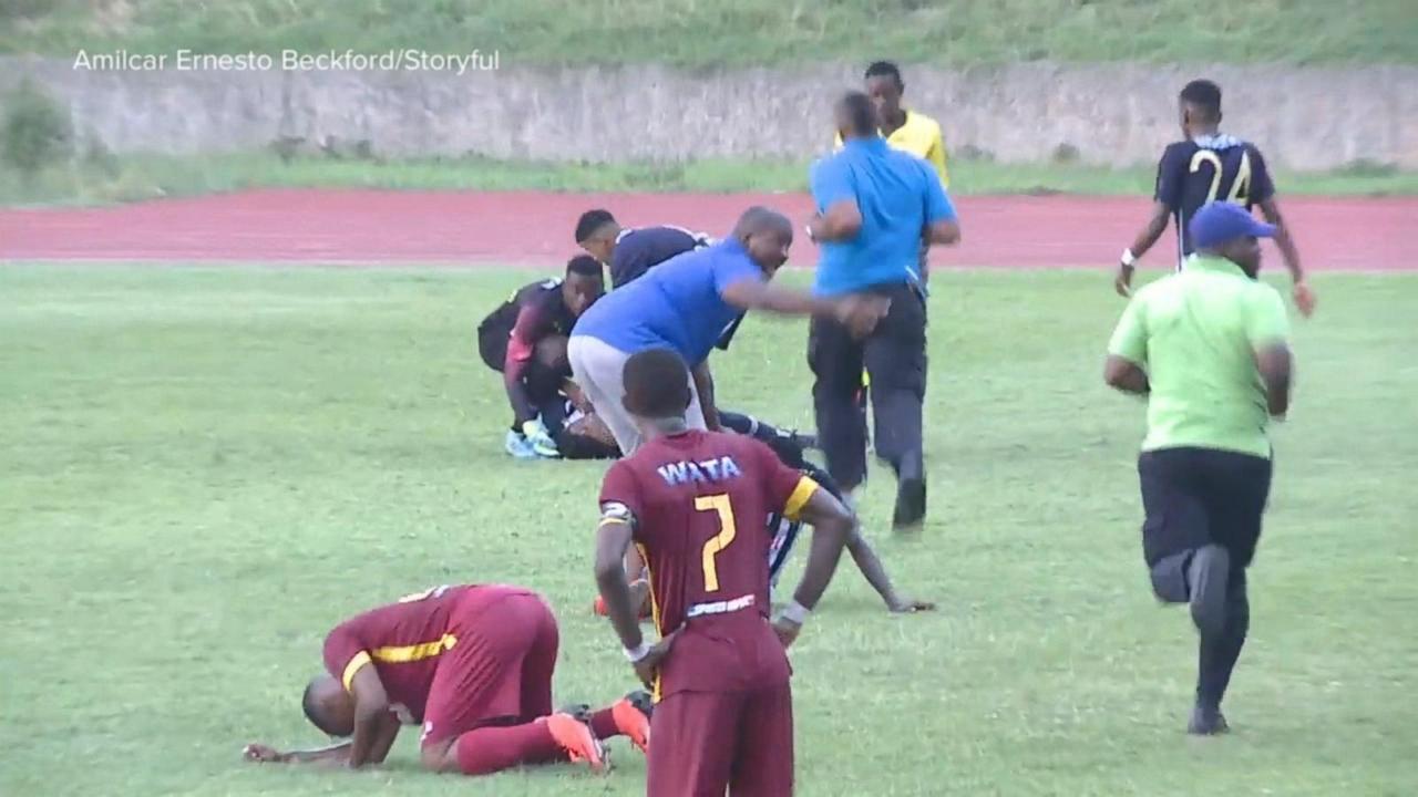 Lightning strikes multiple soccer players during game