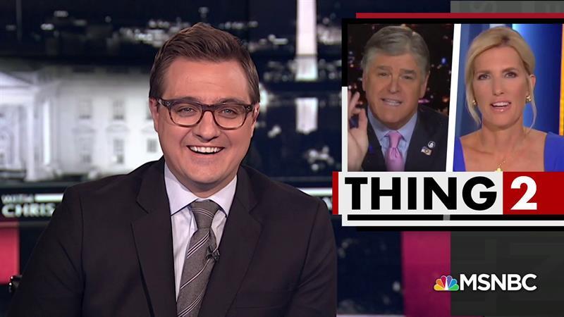MSNBC's Chris Hayes Taunts Sean Hannity, Laura Ingraham: 'Shameless Toadies' For Trump