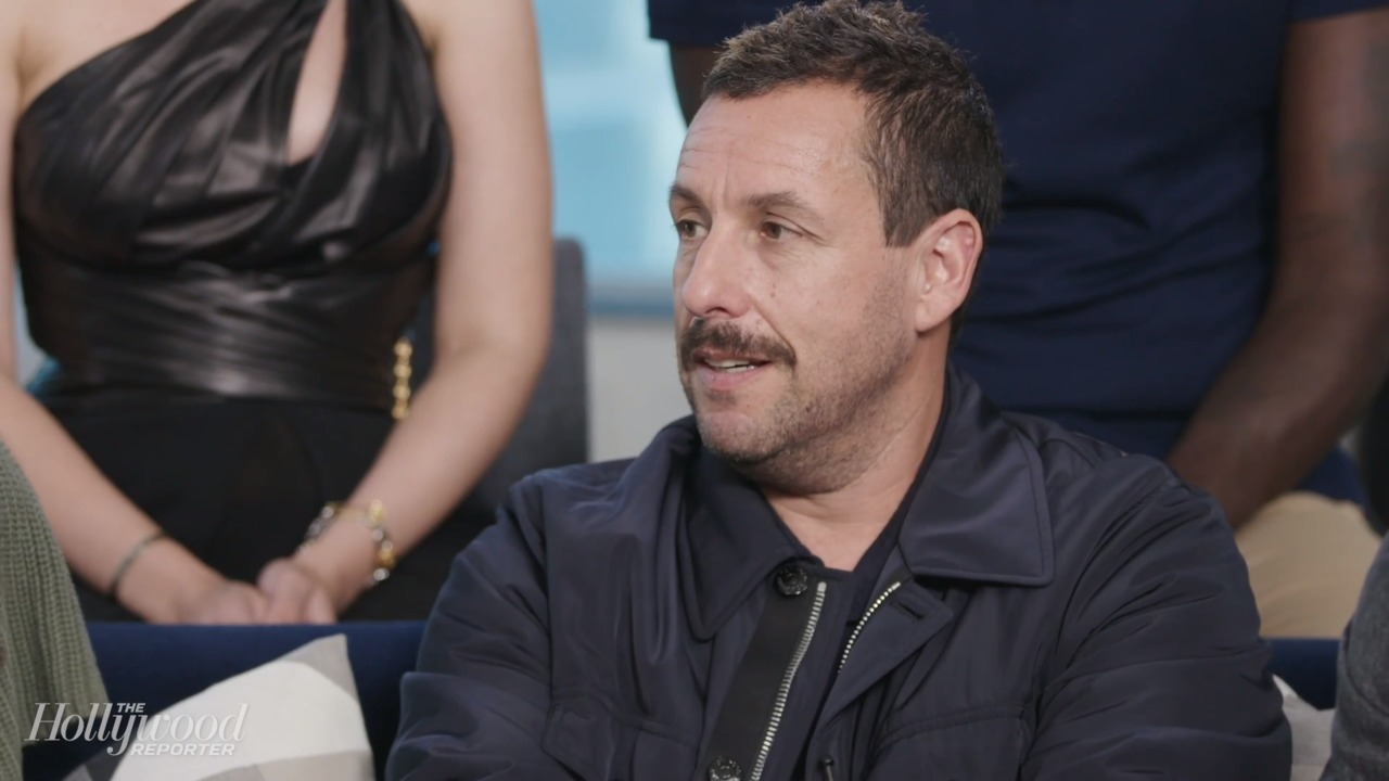 Watch Adam Sandler and his daughters cover Taylor Swift's 'Lover' in front of star-studded audience