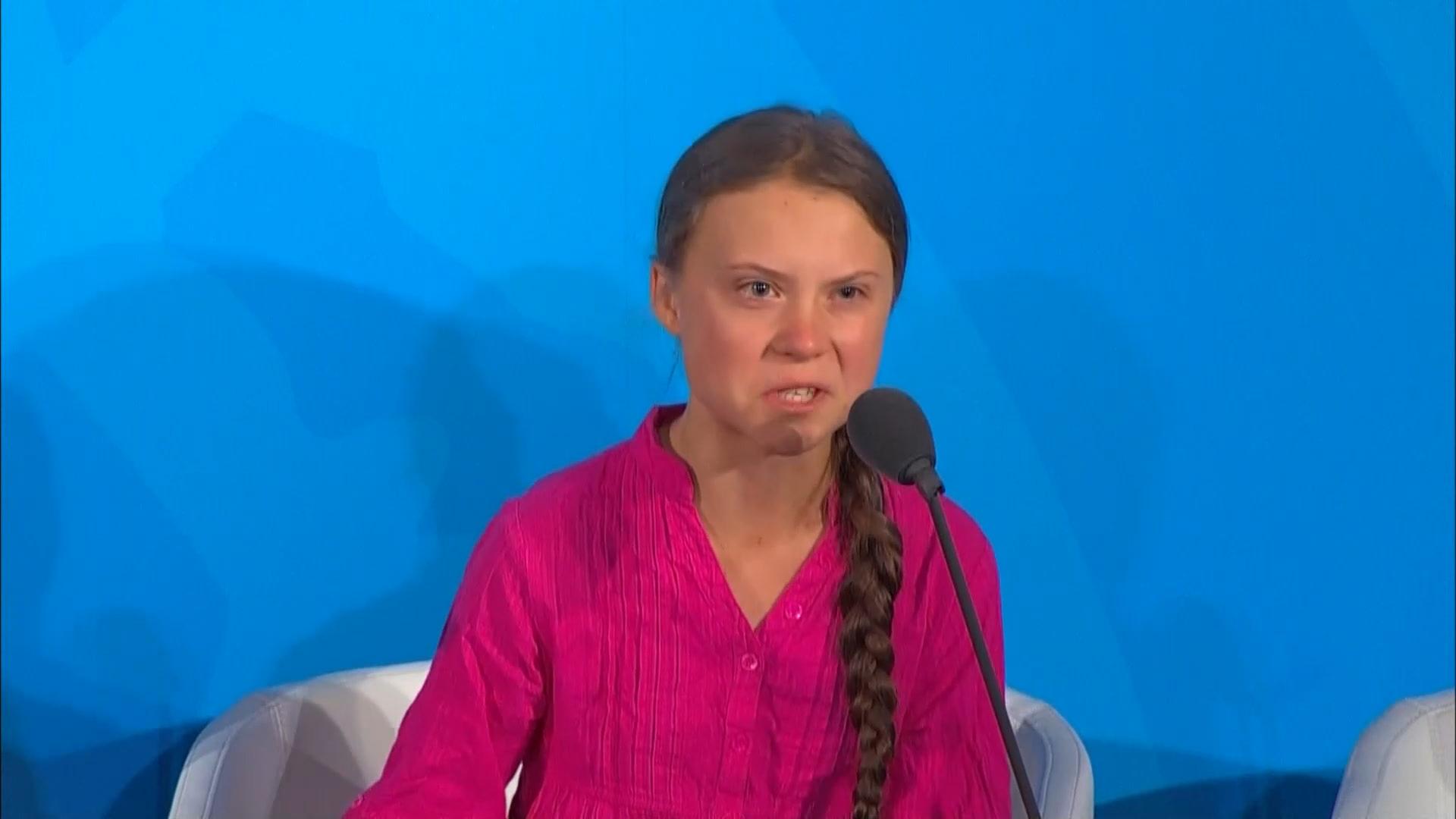 Greta Thunberg Evil-Eyeing Trump At UN Summit Is The Internet's Hottest New GIF