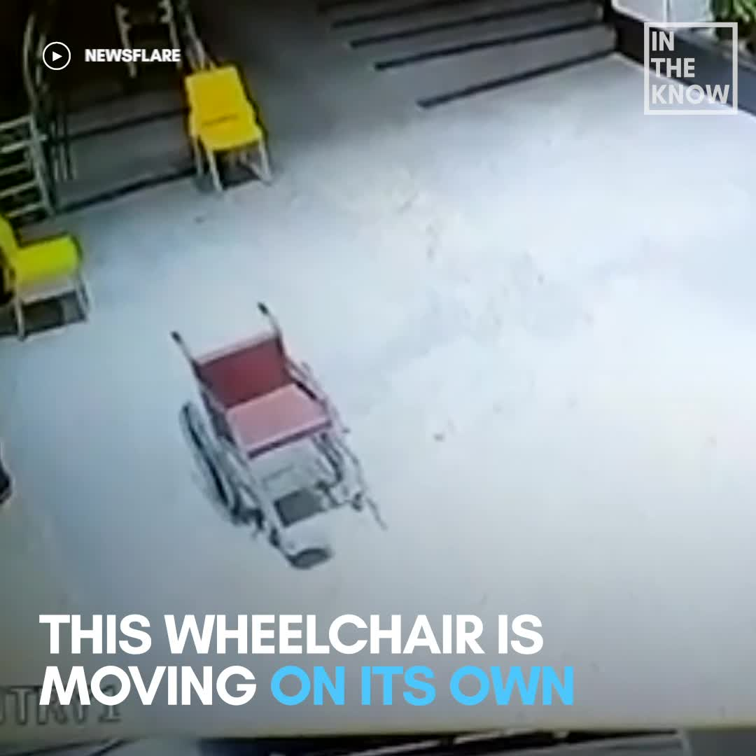 Ghost wheelchair: Security footage shows chair rolling itself around Indian hospital