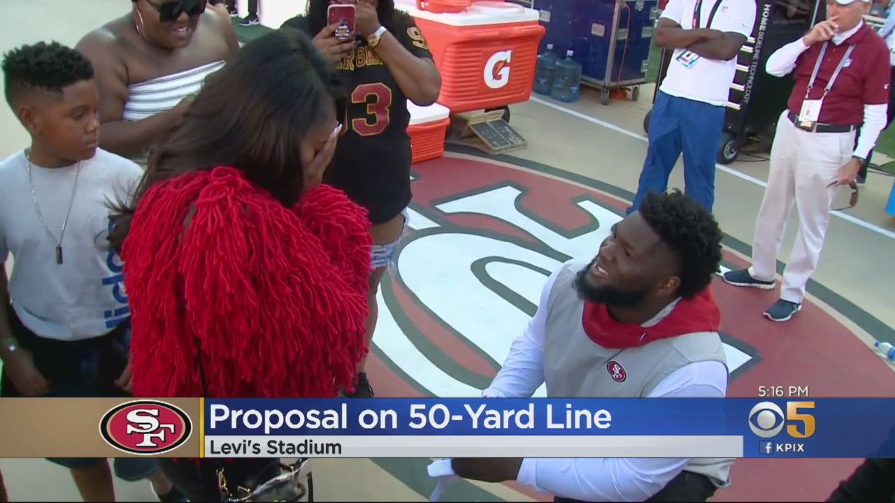 49ers Player D.J. Jones Proposes To Girlfriend On The Field