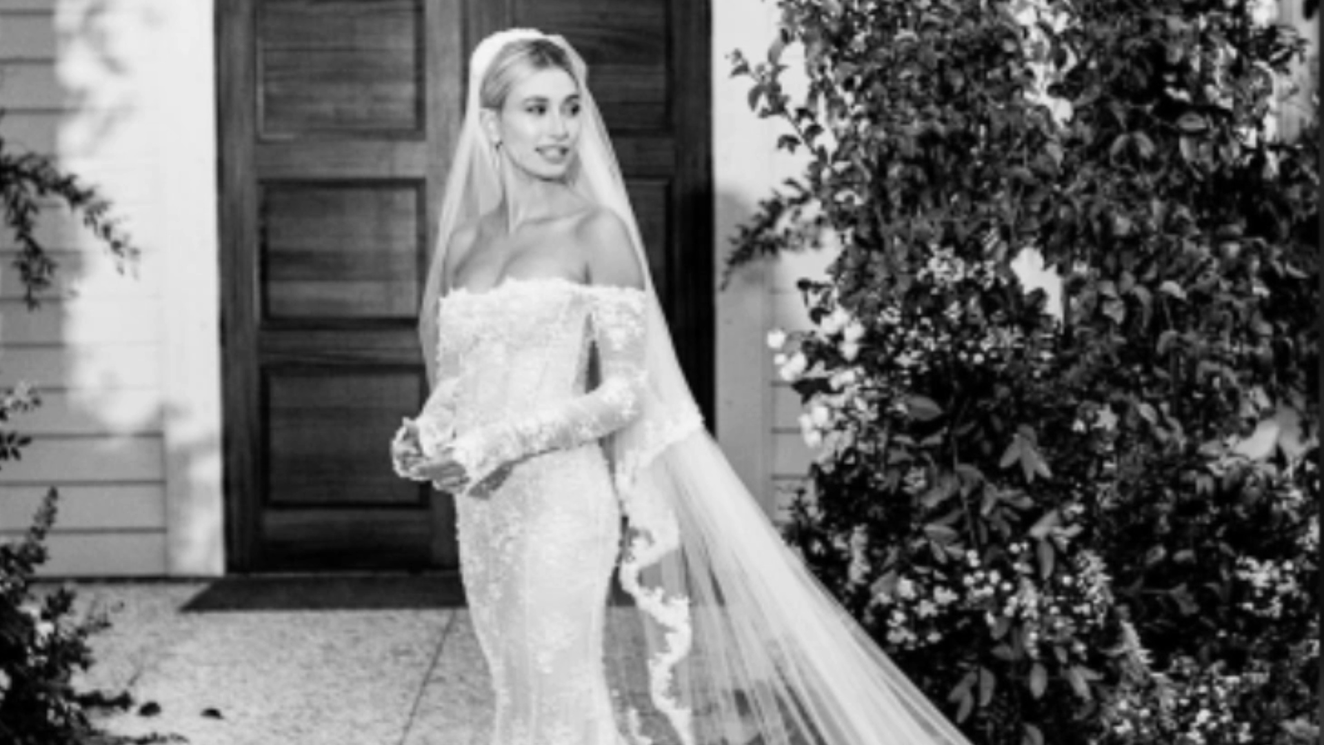 L'impressionnante robe de mariage d'Hailey Bieber