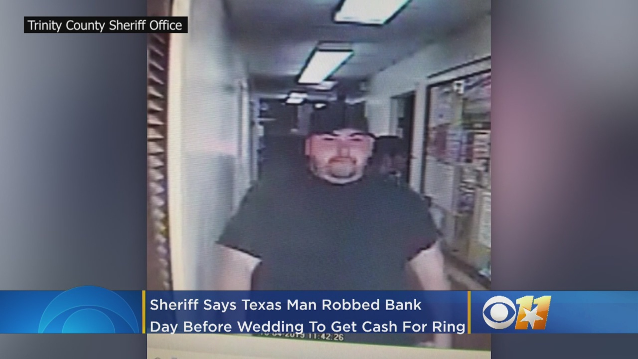 Texas man caught by fiancé after robbing a bank to pay for her wedding ring
