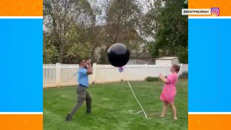 Hilarious gender reveal fail goes viral