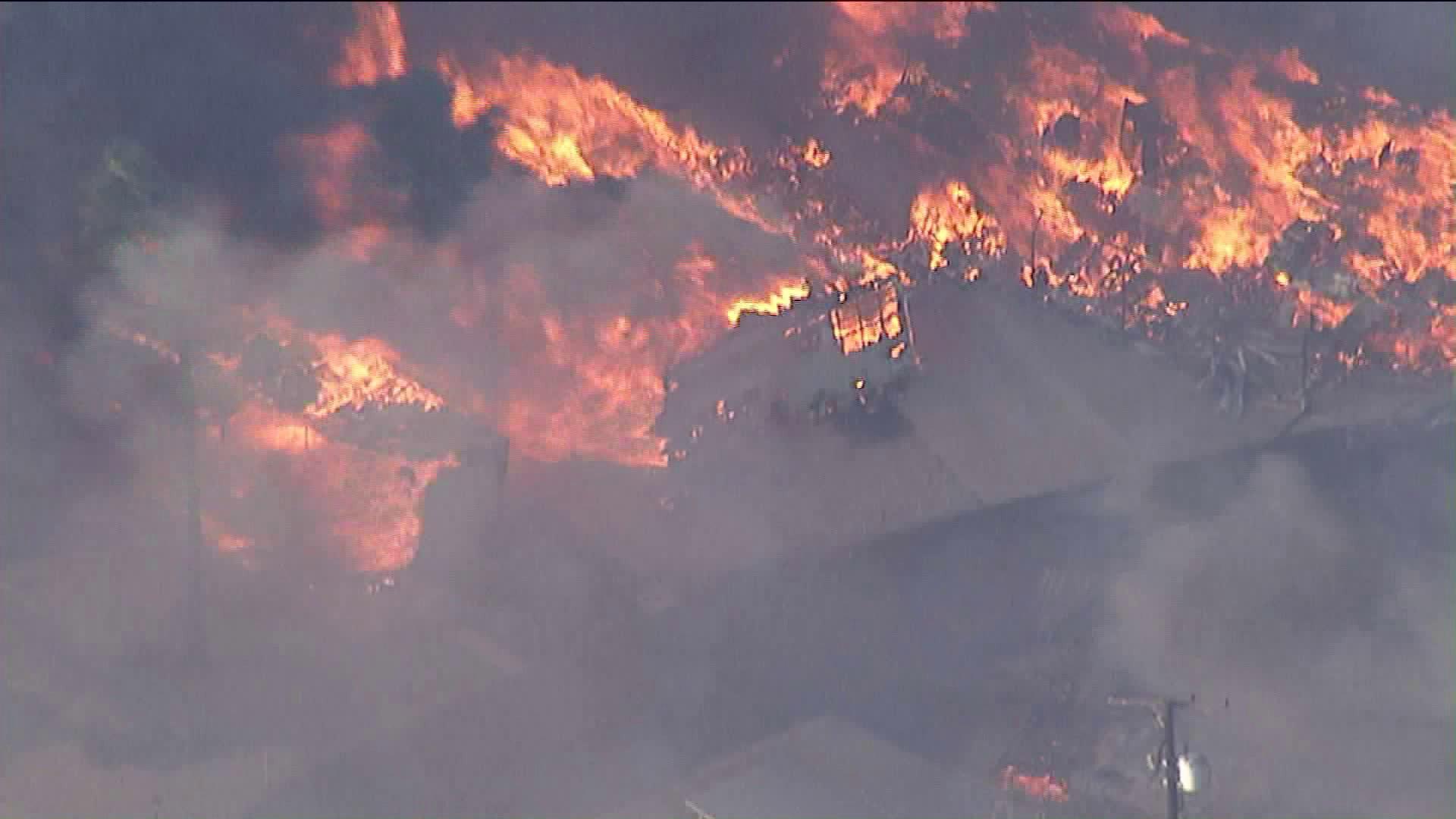 Local News - Blaze Kills Woman, Destroys Dozens of Mobile Homes in Calimesa