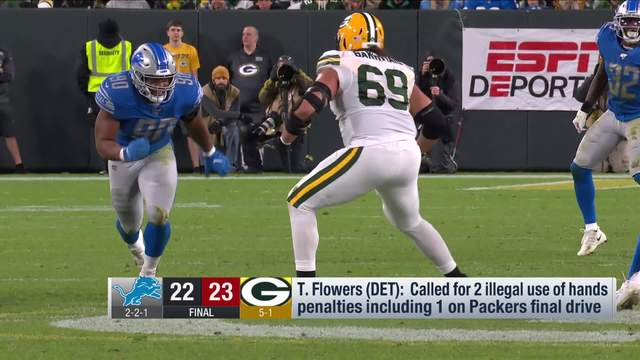 Packers LT David Bakhtiari says he influenced refs on controversial Lions penalties