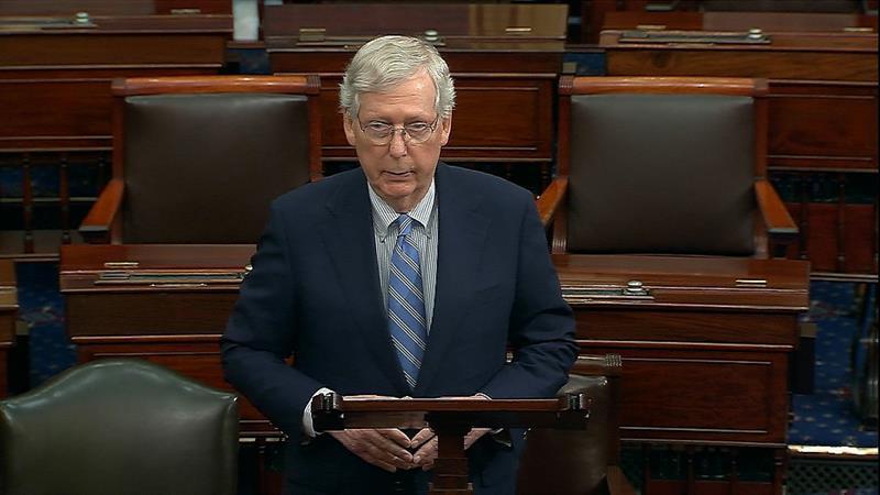 Mitch McConnell Prepares For Impeachment Trial In The Senate