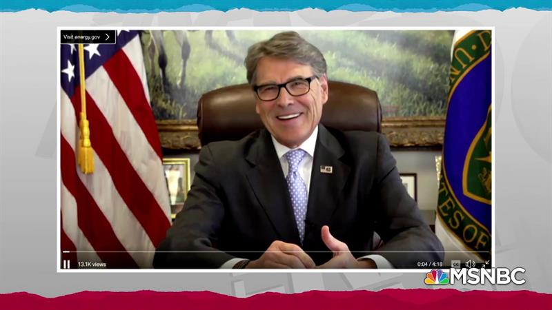 WH: Rick Perry's departure has 'nothing' to do with Ukraine