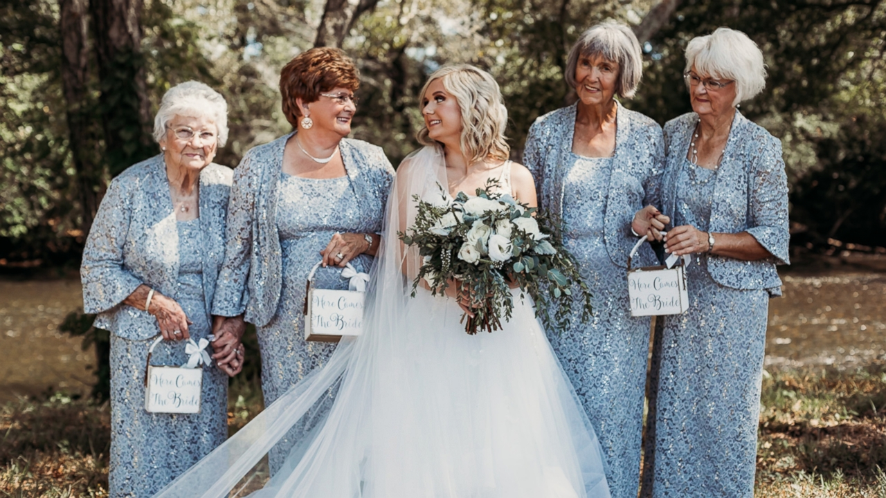 Bride makes unusual choice for flower girls: 'These four gals take the cake'