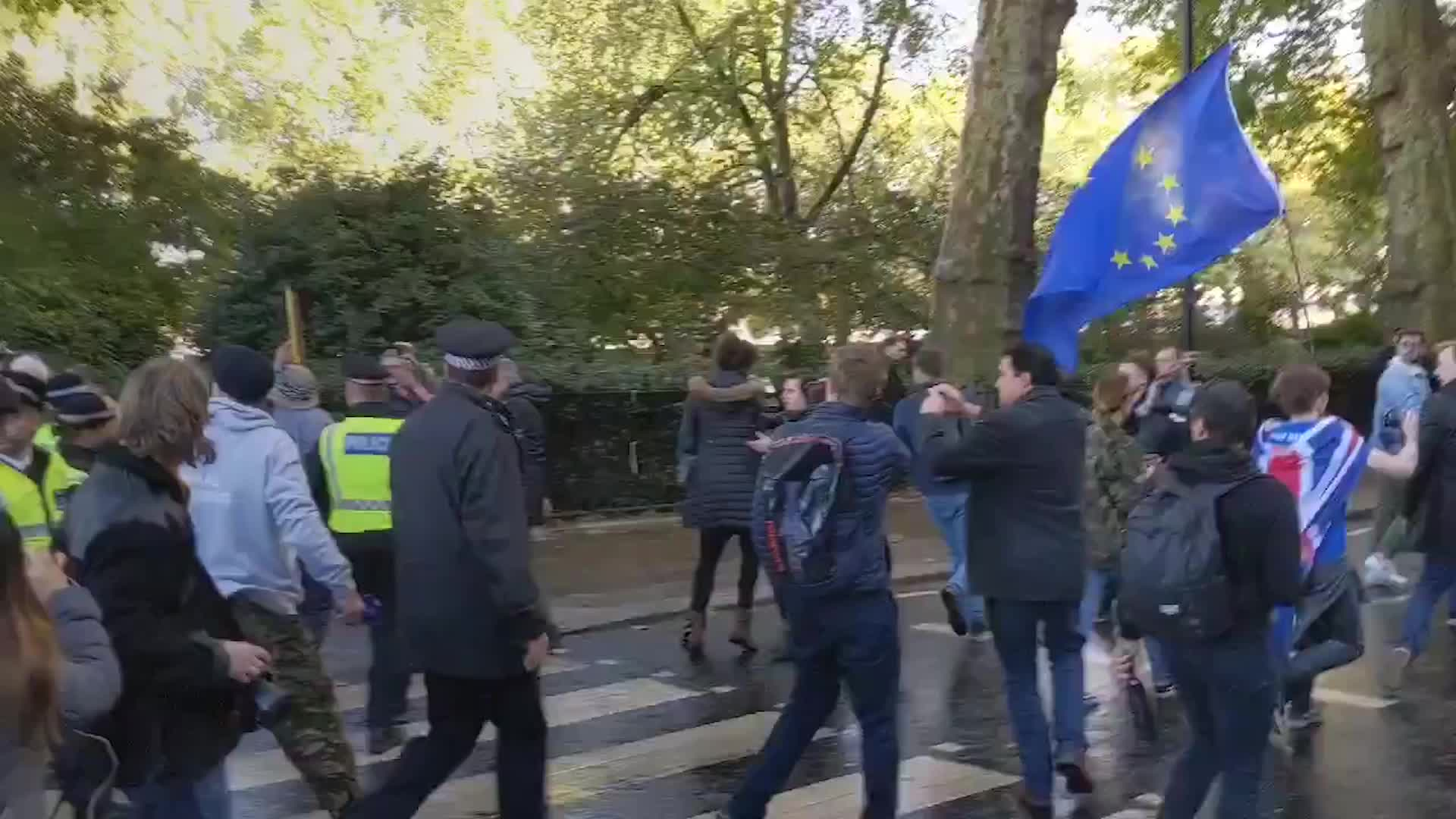 Jacob Rees-Mogg And Andrea Leadsom Had To Be Escorted By Police As They Left Westminster