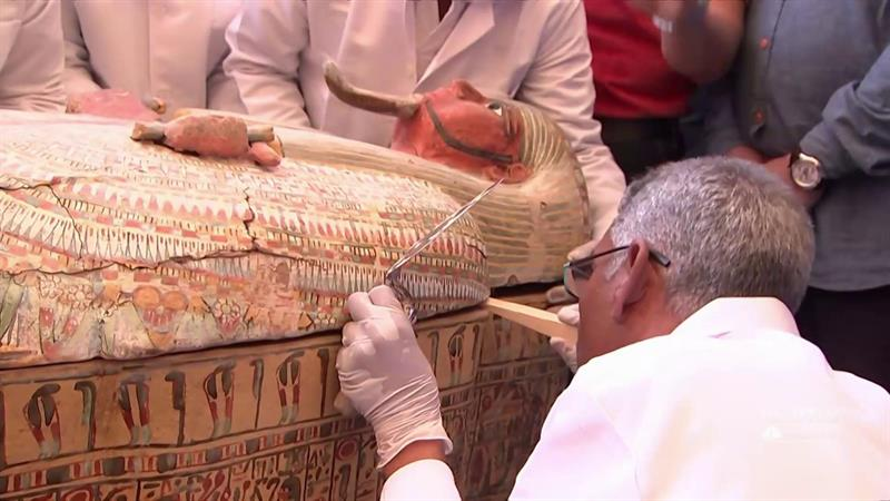 30 ancient coffins with mummies inside discovered in Egypt