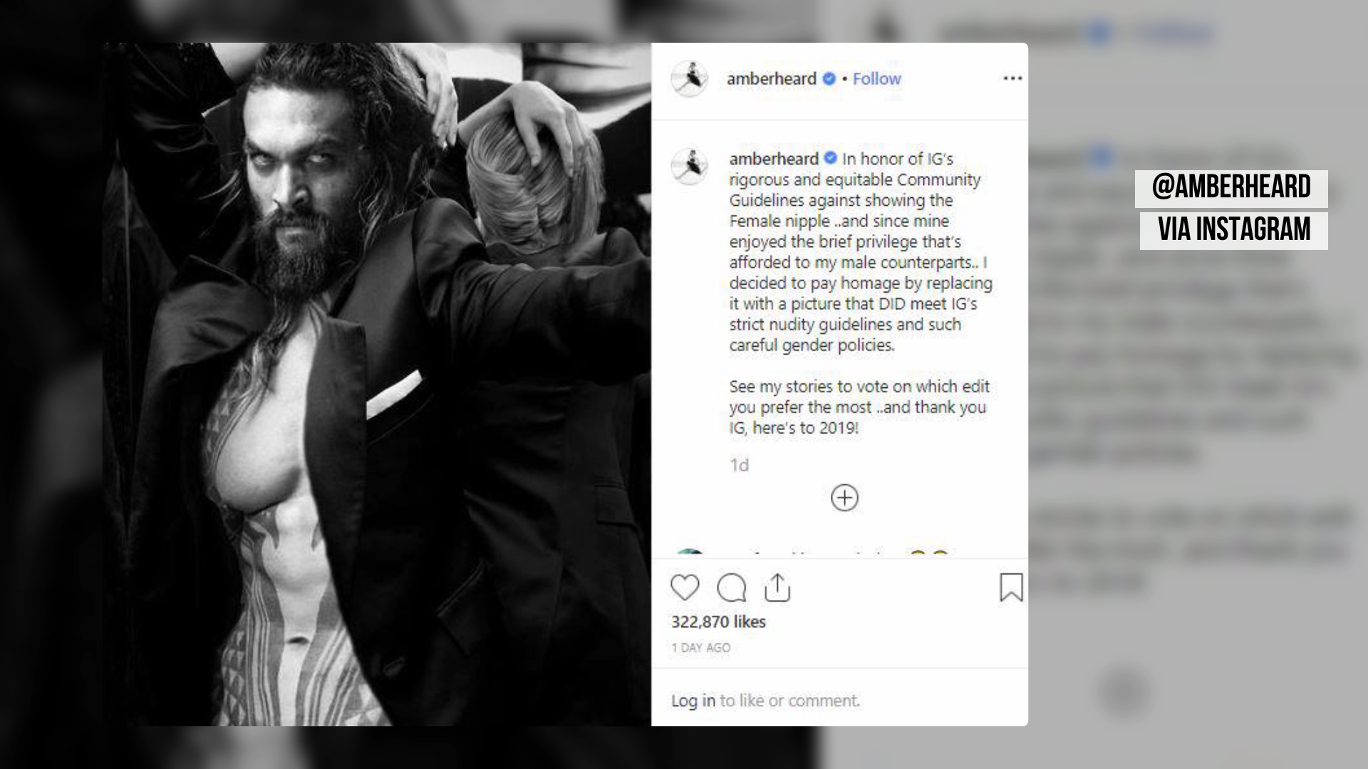 Amber Heard Bashes Instagram Nudity Guidelines With Buff Photo Of Jason Momoa
