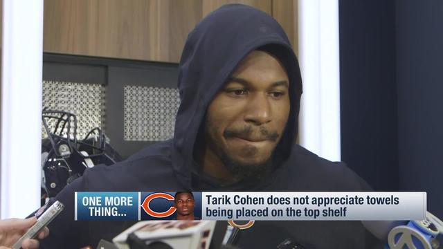 Tarik Cohen's locker room complaint cracks Bears teammate up mid-interview