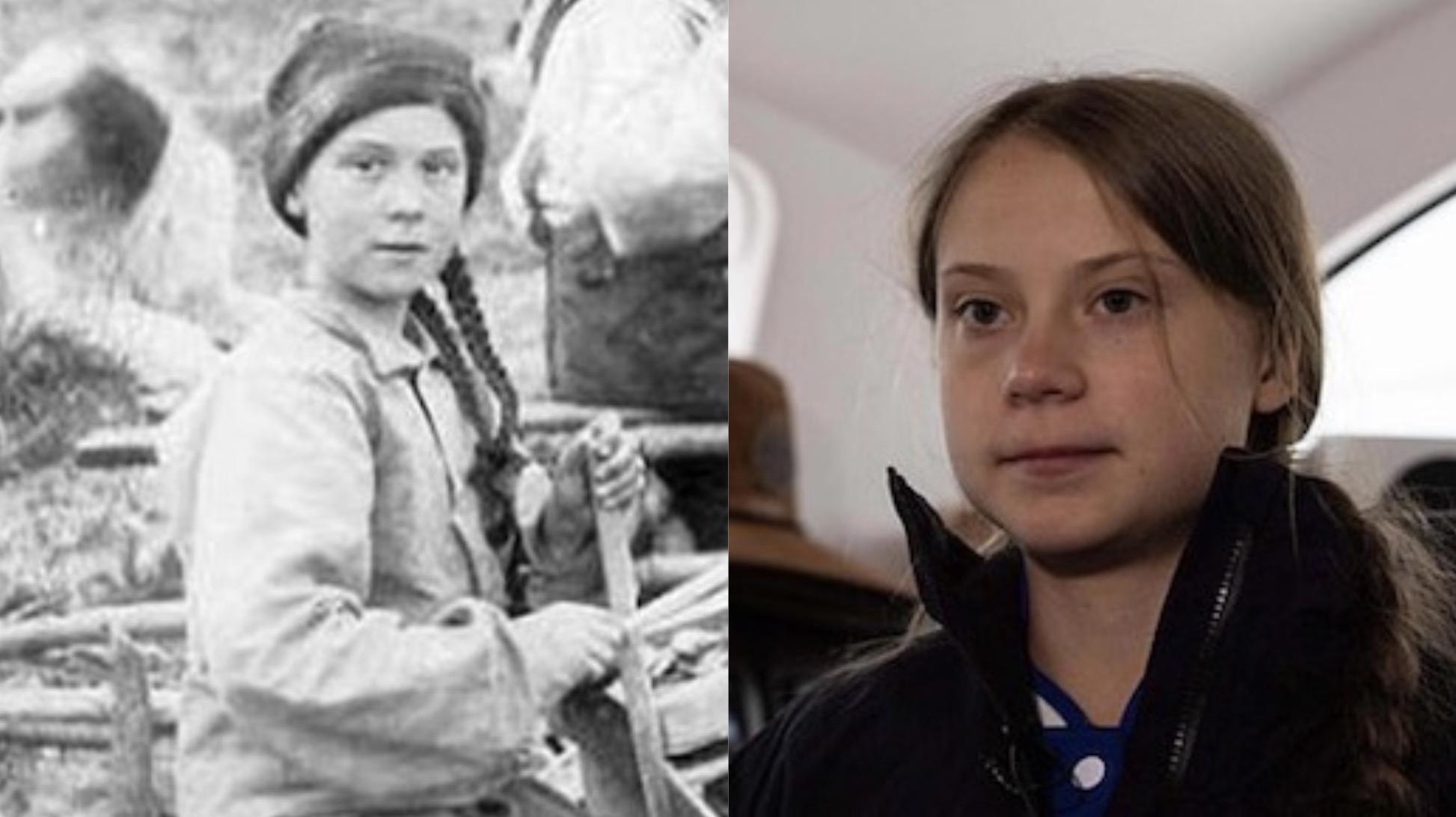 Cette photo donne naissance à une drôle de théorie sur Greta Thunberg