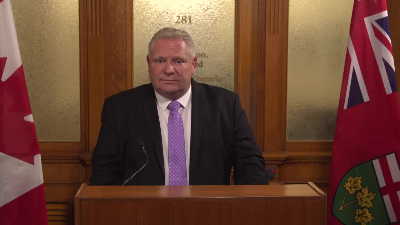 Doug Ford Says He's 'So Proud' Of Green Energy Cancellations That Cost $231M