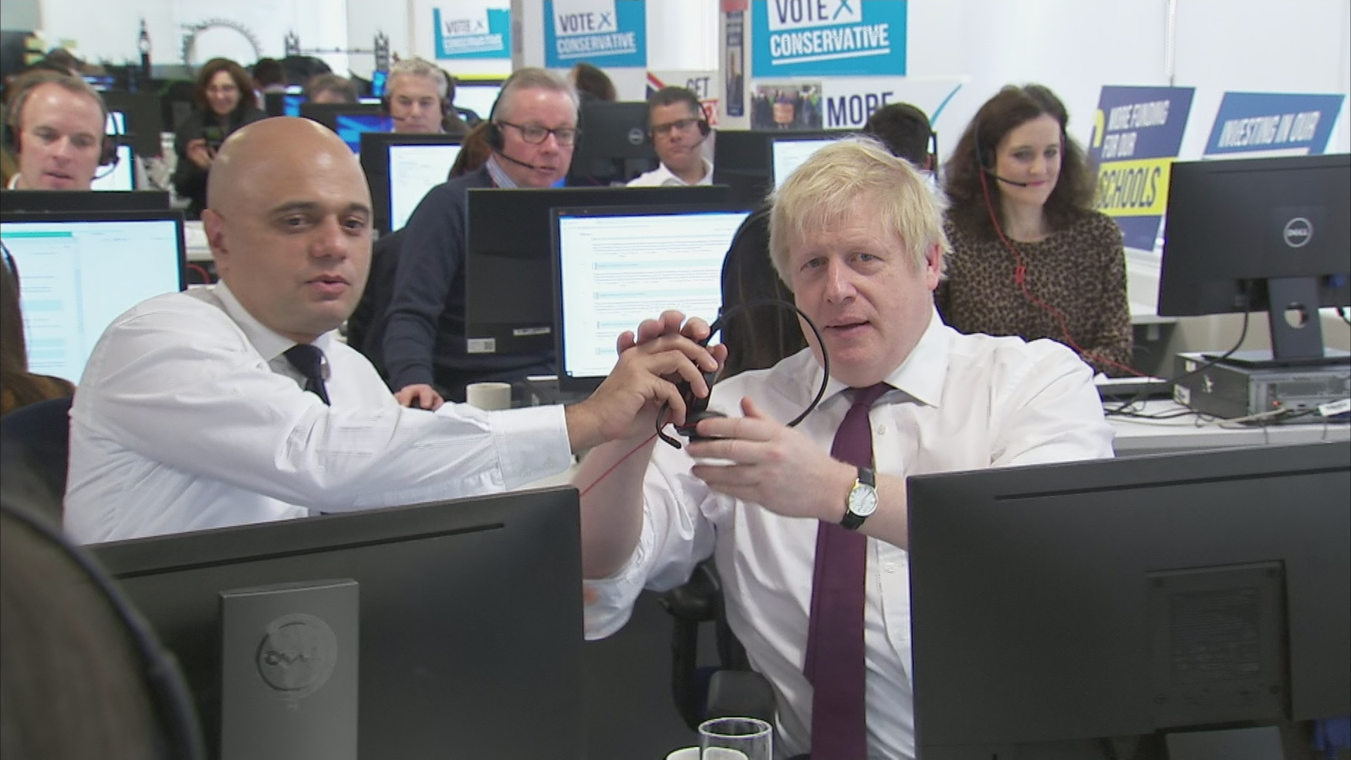 Boris Johnson Is Photographed In A Call Centre And Another Election Meme Is Born