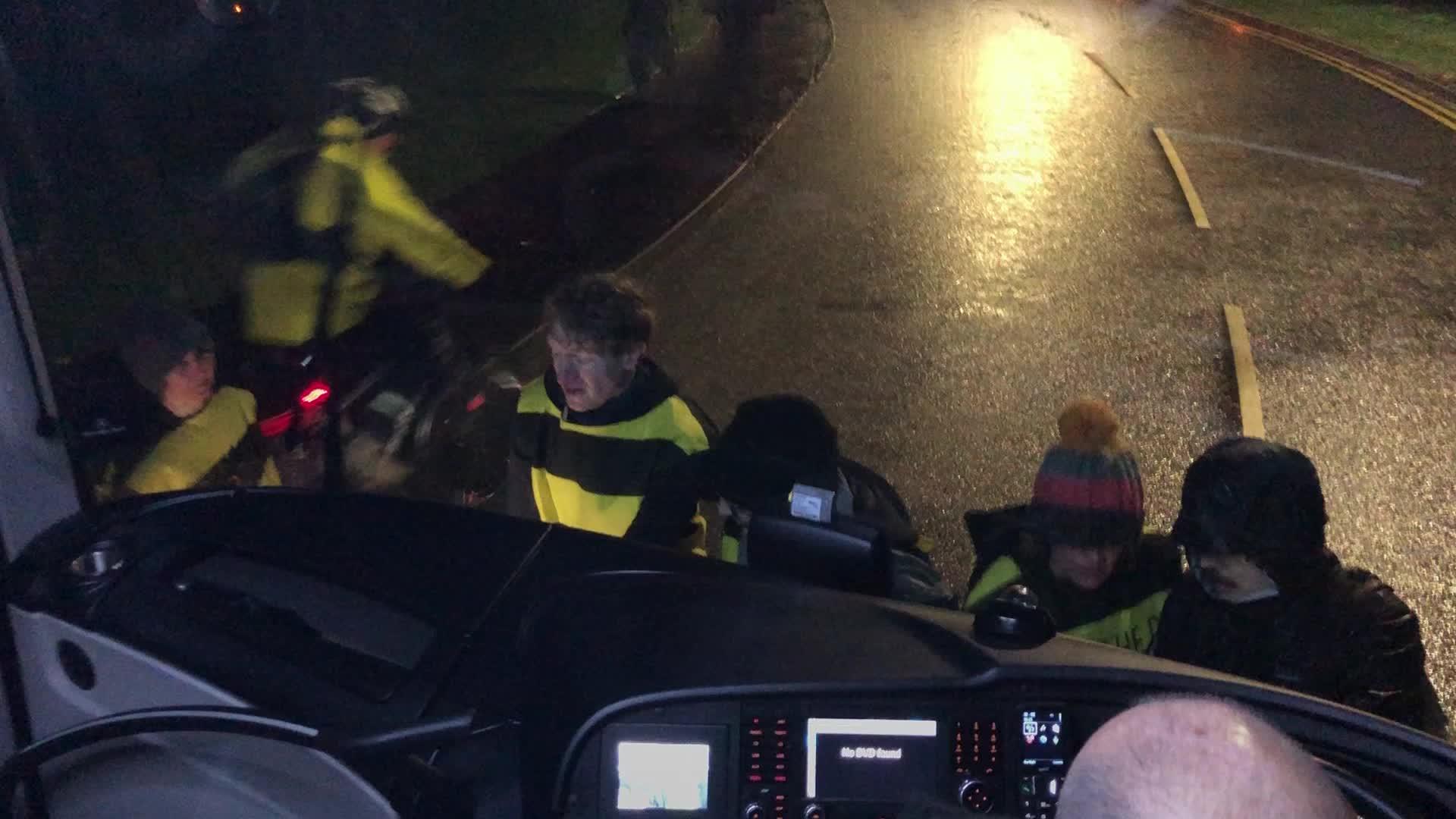 Extinction Rebellion Protesters Glue Themselves To Boris Johnson's Election Battle Bus