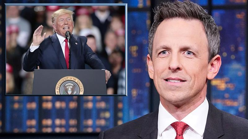 Seth Meyers Stunned By 'Lunatic' Donald Trump's New War On Toilets