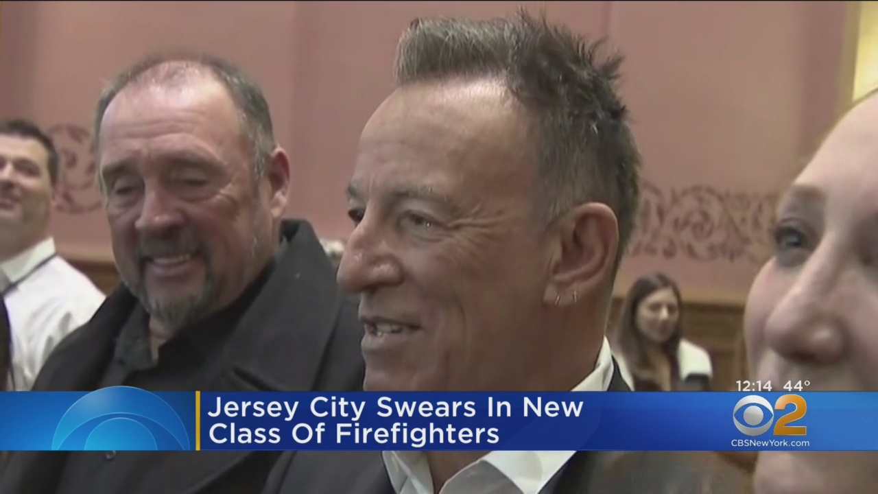 Bruce Springsteen proudly watches as son officially becomes New Jersey firefighter