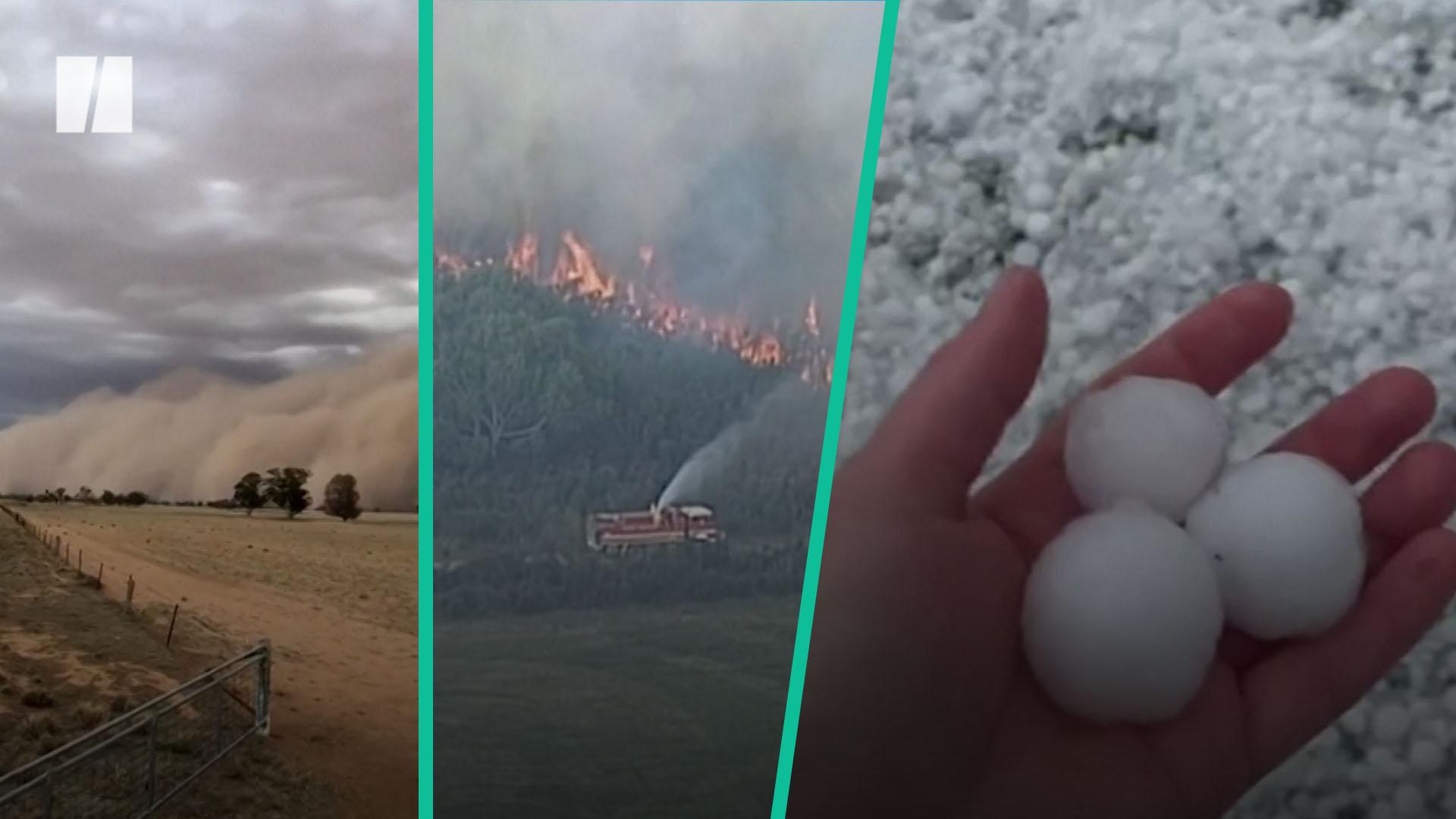 Australia Hit By Dust Storms And Golf Ball-Sized Hail
