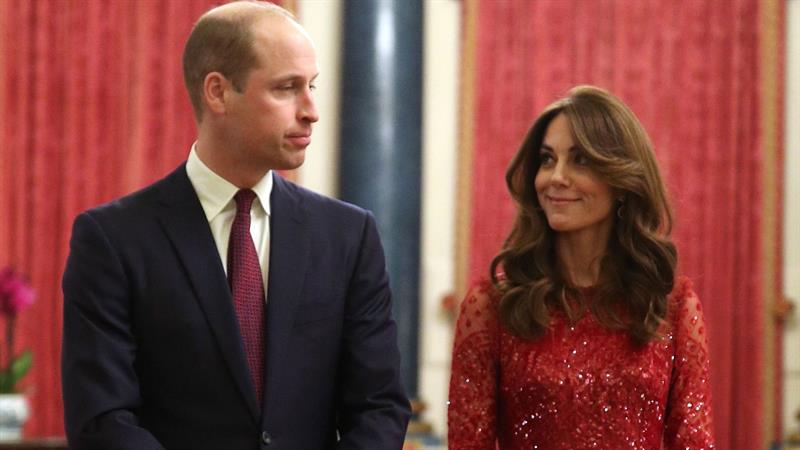 Kate Middleton dazzles in red sequined dress for palace reception