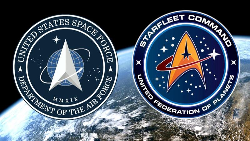 'Star Trek' fans accuse President Trump of copying logo for new Space Force