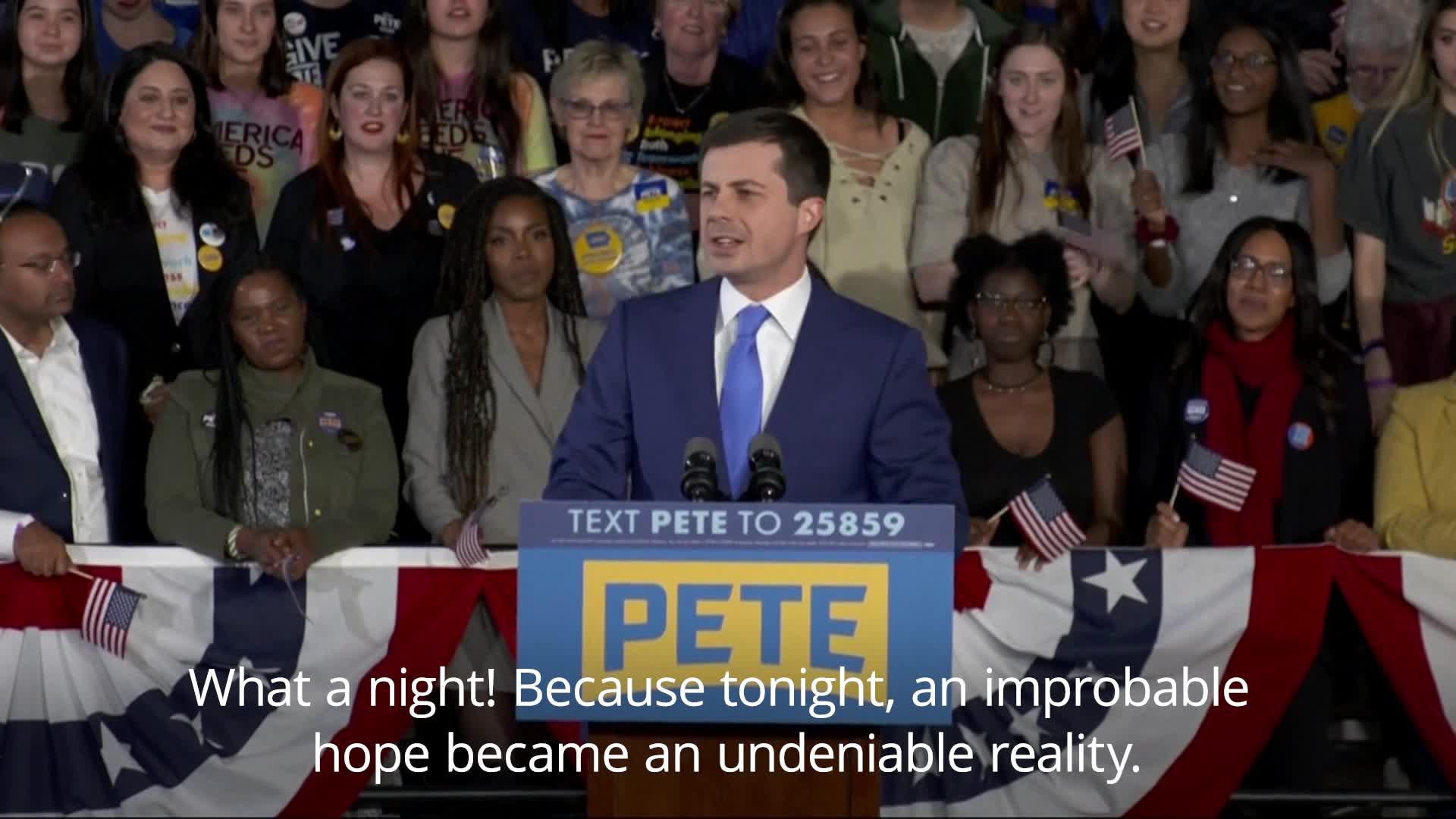 Pete Buttigieg backtracks on his victory speech from Iowa: 'Something extraordinary had happened'