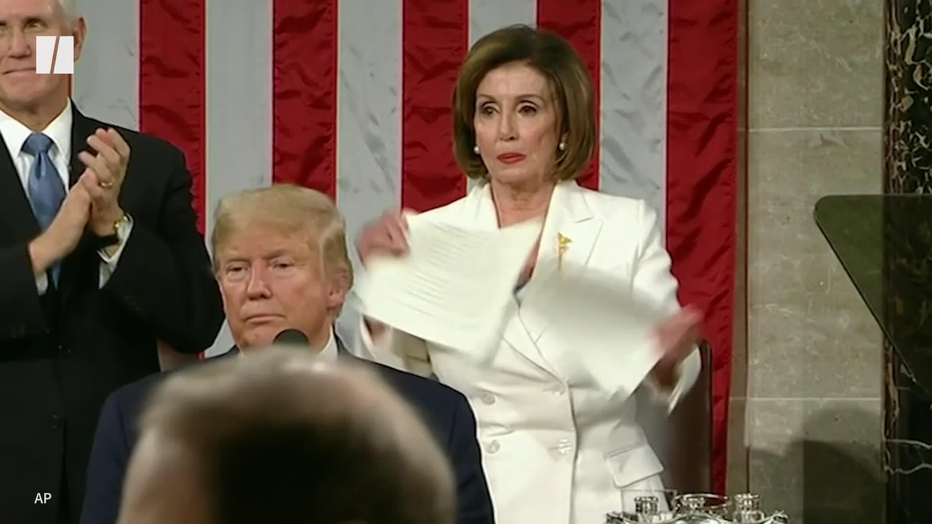 Nancy Pelosi Rips Up Trump's State Of The Union Speech
