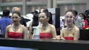 Thai models don face shields at first motor show amid COVID-19 pandemic
