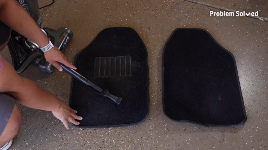Here's an easy way to clean your car mats