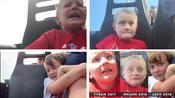 US dad records his three sons' contrasting reactions to their first roller coaster ride