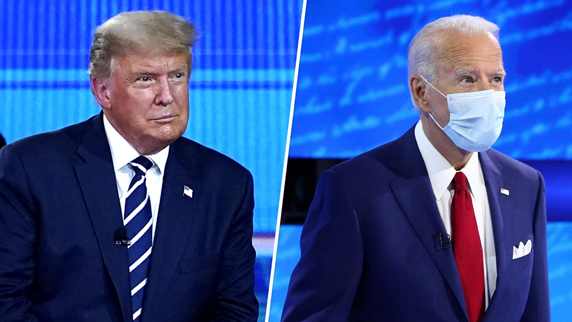 AP fact check: Rhetoric from Trump, Biden in the non-debate
