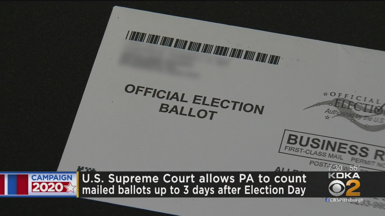 SCOTUS allows 3-day extension for state's ballots