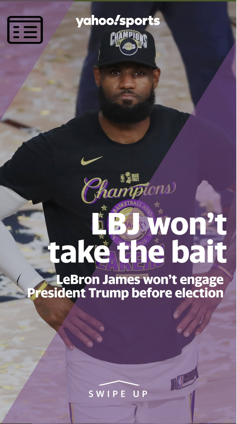 LeBron James won't engage President Trump before election: 'I damn sure won't go back and forth with that guy'