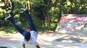 Guy Falls Hard On His Back While Attempting Benihana Trick On Skateboard