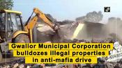 Gwalior Municipal Corporation bulldozes illegal properties in anti-mafia drive
