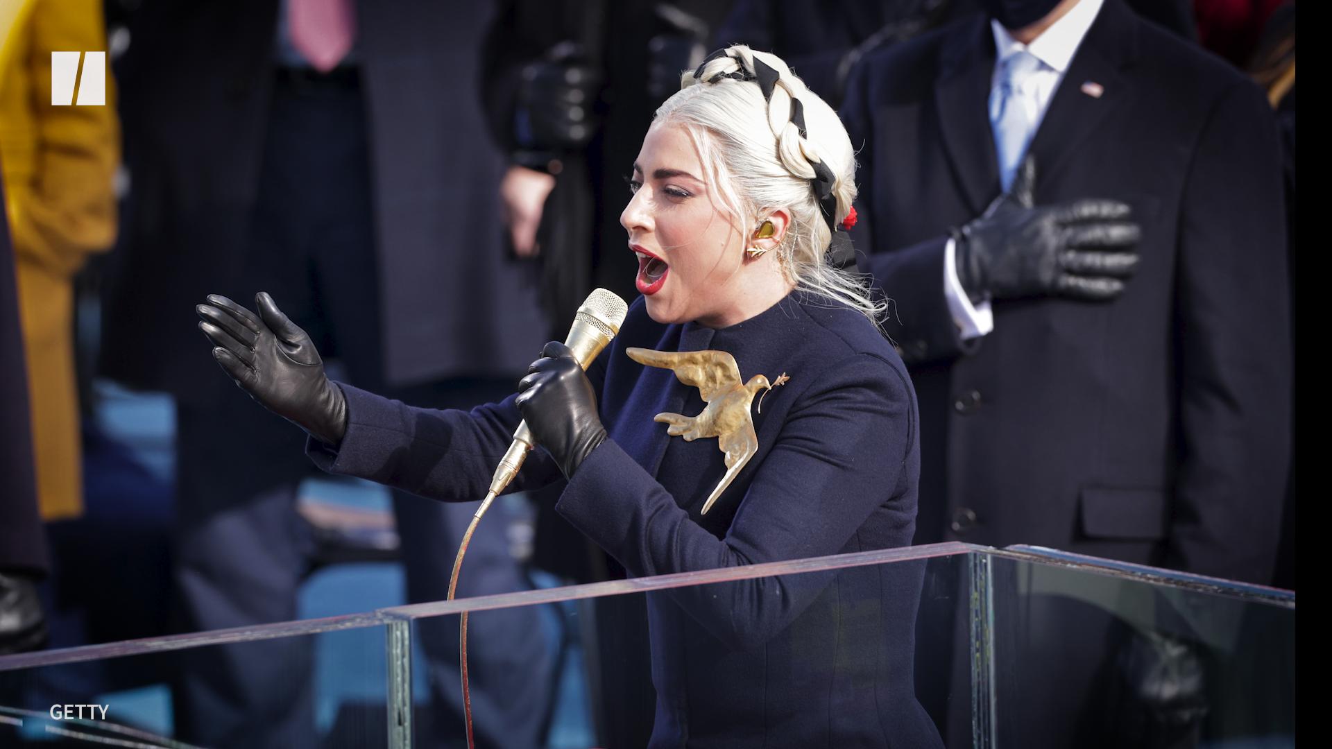 Lady Gaga Performs Powerful National Anthem Rendition