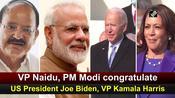 VP Naidu, PM Modi congratulate US President Joe Biden, VP Kamala Harris