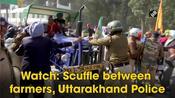 Watch: Scuffle between farmers, Uttarakhand Police