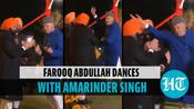 Watch: Farooq Abdullah shakes a leg with Capt Amarinder Singh at wedding