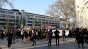 French feminists march in Nantes on International Women's Day