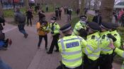 Scuffles as police and protesters clash at London anti-lockdown 'Freedom protest'