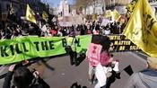 'Kill The Bill' protesters march through London despite Prince Philip funeral