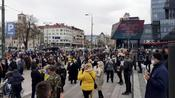 Sarajevo citizens protest COVID-19 vaccine access