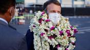 Empfang mit Blumen: Macron besucht Französisch-Polynesien