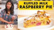 Sam Makes Ruffled Milk Raspberry Pie