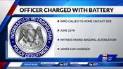 Indianapolis police officer charged with domestic violence in the presence of a child